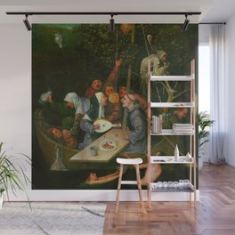 "Hieronymus Bosch ""The Ship of Fools"" Wall Mural"