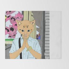 Kitten Monk Throw Blanket