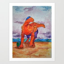 Beach Ball Dinosaur - Barney Art Print
