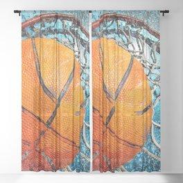 Basketball art swoosh vs 36 Sheer Curtain