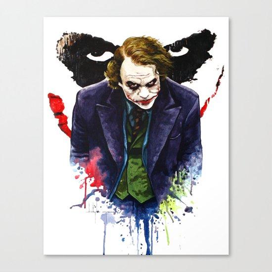 Angel Of Chaos (The Joker) Canvas Print