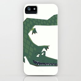 Snapping vintage Alligator iPhone Case