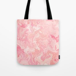Blush pink abstract watercolor marble pattern Tote Bag