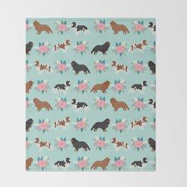 Cavalier King Charles Spaniel florals cute gift for dog lover custom pet portrait pet friendly dog Throw Blanket