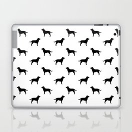 Black Labrador Retriever Silhouette Laptop & iPad Skin