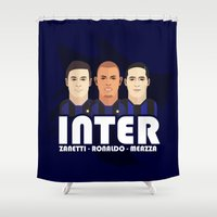 milan Shower Curtains featuring Toon Inter Milan by Maxvtis