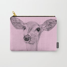 Pink Deer Carry-All Pouch