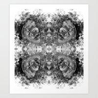 sagan Art Prints featuring Sagan Fractal by Mark Albritton