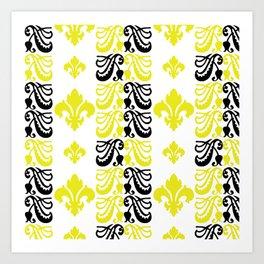 Fluer de Lis Custom Yellow Art Print