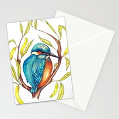 Kingfisher on Willow Stationery Cards