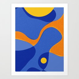 Orange Pop | Happy modern Art Art Print