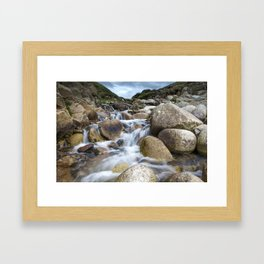 Stream Into Porth Nanven Framed Art Print