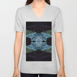 Mirrored Madagascan Sunset Moth Iridescence Unisex V-Neck