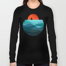 Deep blue ocean Long Sleeve T-shirt
