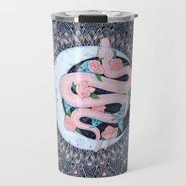Lunar Pink Python Mandala Travel Mug