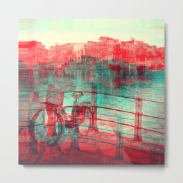 One Bicycle Metal Print