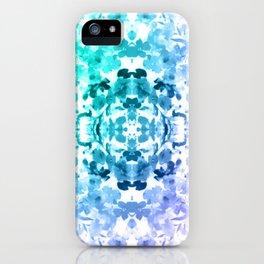Floral Print - Teal & Purple iPhone Case