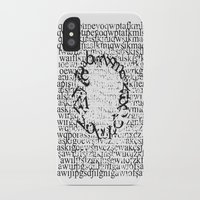 letters iPhone & iPod Cases featuring Letters  by Enver Yigit