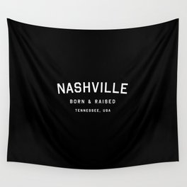Nashville - TN, USA (Black Arc) Wall Tapestry