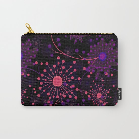 Pink fireworks . Abstract pattern . Carry-All Pouch