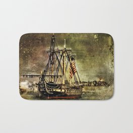 Tall ship USS Constitution Bath Mat