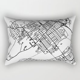 Wilkes-Barre Pennsylvania Map Rectangular Pillow