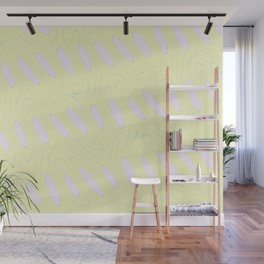 Geo Flow Yellow Pink Wall Mural