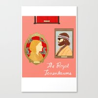 the royal tenenbaums Canvas Prints featuring The Royal Tenenbaums by Anna Valle