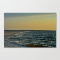 sailboat Canvas Prints featuring Sailboat by Damn_Que_Mala