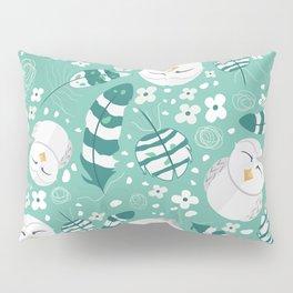 Minty Fresh Owls Pillow Sham