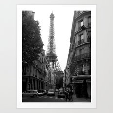 Around the Corner - Paris Art Print
