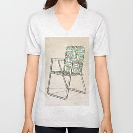Digital Retro Relic Classic Lawnchair Digital Art Sodaartstudio Unisex V-Neck