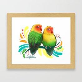 Fischer Lovebirds Framed Art Print