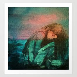 """""""Muse By The Sea"""" Art Print"""