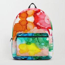 Rainbow Rorschach II Abstract Design Backpack