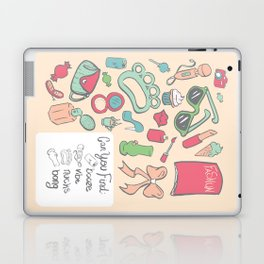 Bad Girl seek-and-find Laptop & iPad Skin