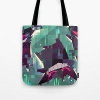 gengar Tote Bags featuring Gengar by tinysnails