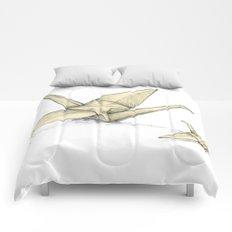 Paper Cranes Comforters