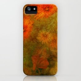 """Golden Manila Flowers"" iPhone Case"