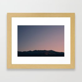Sunrise Mountain Framed Art Print