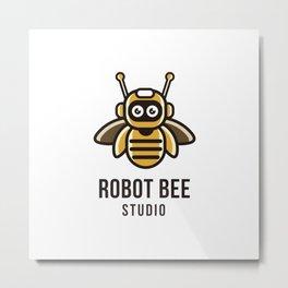 Robot Bee Studio Logo Template Metal Print