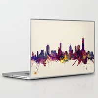 melbourne Laptop & iPad Skins featuring Melbourne Skyline by artPause
