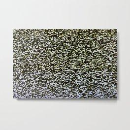 Analog TV Static Pattern Metal Print
