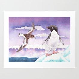 Antarctic Love Story Art Print