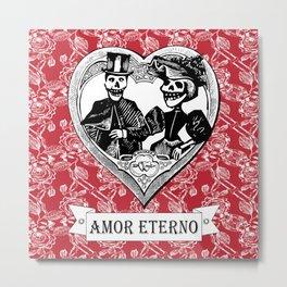 Amor Eterno | Eternal Love | Red and Black Metal Print