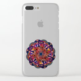 Watch Over My Heart Mandala Clear iPhone Case