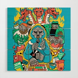MF DOOM & Friends Wood Wall Art