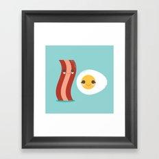 Bacon and Egg Buds Framed Art Print