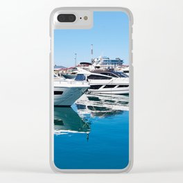 Sea Yacht Club in sunny day Clear iPhone Case