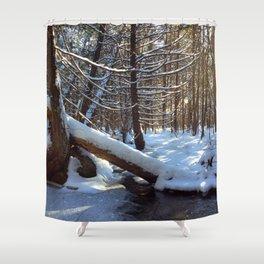 A winter hike Shower Curtain